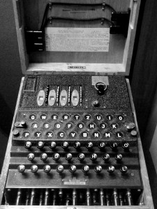Navy Enigma at the National Cryptologic Museum.